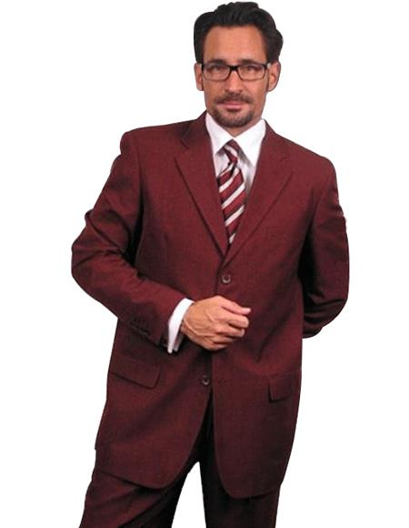 Dark Burgundy ~Maroon Suit ~ Wine Color~Wine 2 or Three ~ Mens Dress 2 Piece Cheap Priced Business Suits Clearance Sale For Men