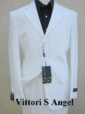 SKU# IHY926 premier quality italian fabric Vittori Angel MEN WHITE SUIT