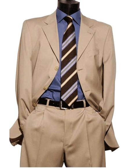 Light Beige premier quality three buttons style italian fabric Super 150 Wool Mens Dress Suit $199 Compare a