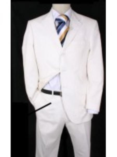 Mens Suits For Men Snow White 3 buttons Suits For Men + Free Tie