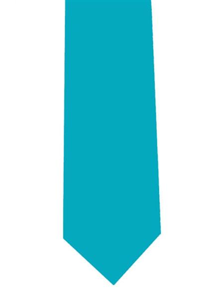 Men's Turquoise Neck Tie Polyester Extra Long
