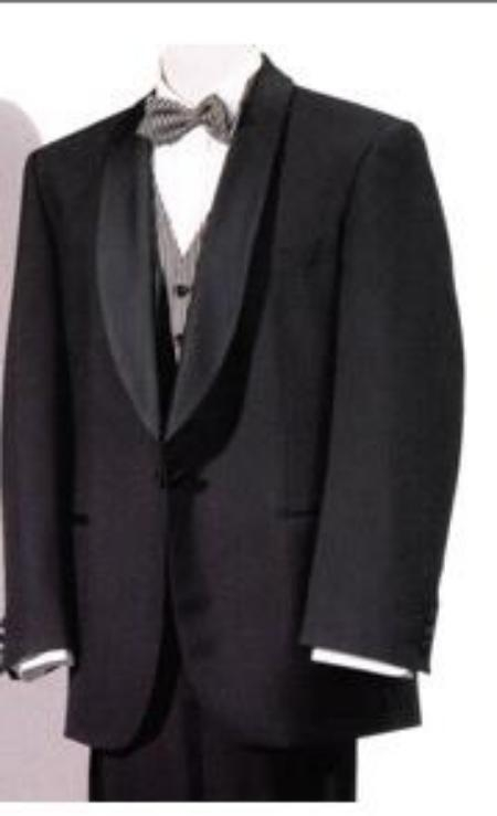 SKU# GBW12 Mens Tuxedo Shawl Collor Super 120s Wool Suit + Shirt + Any Color Bow Tie