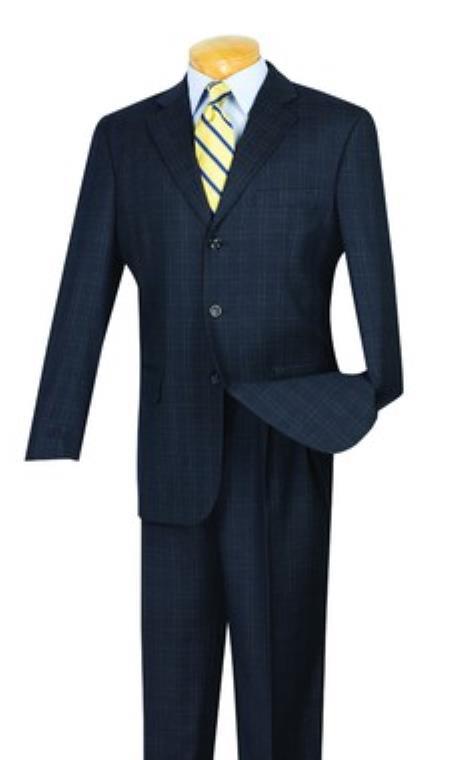 Tweed Pattern Suit Pleated