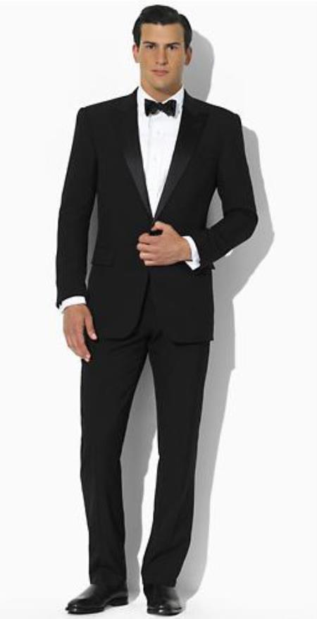 SKU#PN86 Ralph Lauren Lawrence Two Button Slim Fit Tuxedo