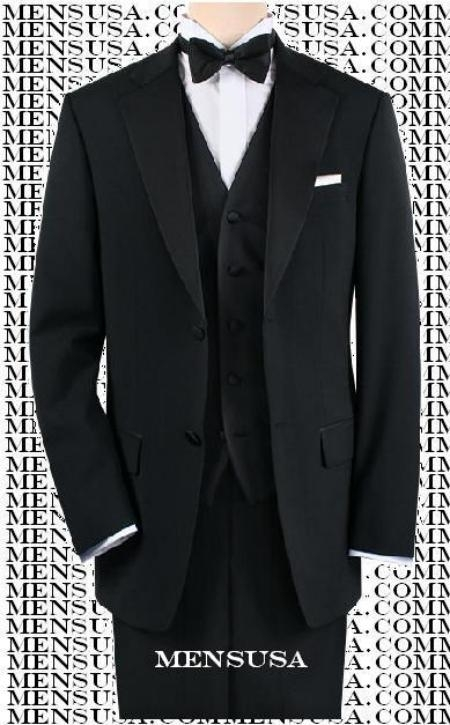 Black Tuxedo 1or2or3or4 Button Style