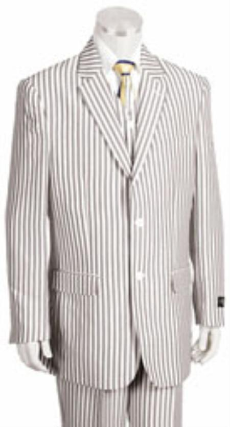 2 Button Jacket Pleated Pants Pronounce Pinstripe