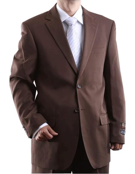 Men's Two Button 2 Button Jacket Cocoa Dress Cheap Priced Business Suits Clearance Sale Side Vent Pleated Pants For Me