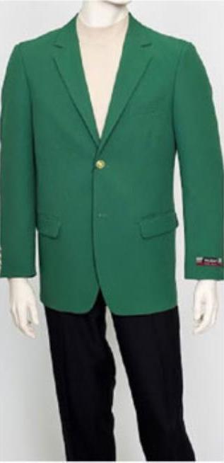 Augusta green Men's Classic Brass buttons Blazer Sport Jacket
