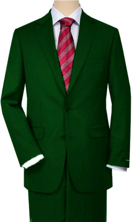 SKU#HG61 Dark Green Quality Total Comfort Suit Separate Any Size Jacket & Any Size Pants
