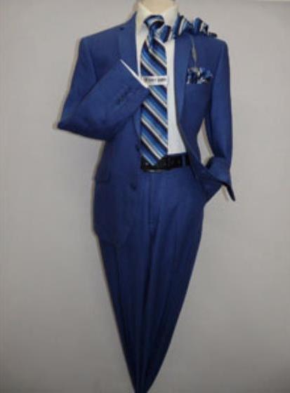 Indigo ~ Bright Blue ~ cobalt blue ~ Teal New blue Linen fabric Summer Men's Suit 2 Button Style Flat Front Pants Regular Cut