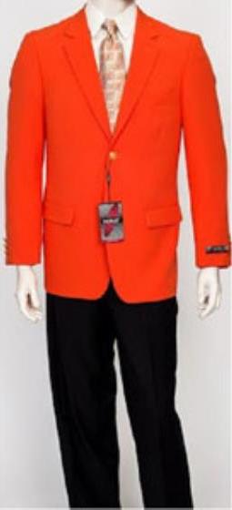 Pacelli Men's Classic Orange Blazer Jacket Blair