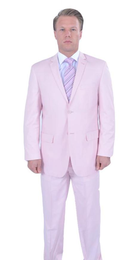 Mens 2 Piece affordable suit online sale - Pink