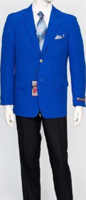 Pacelli Men's Classic Royal Blue Blazer Jacket