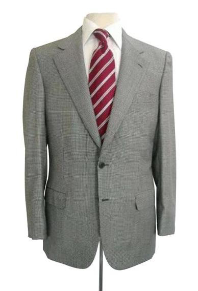 Checker houndstooth fabric Checker Pattern Business ~ Wedding 2 piece Side Vented 2 Piece Suits For Men Gr
