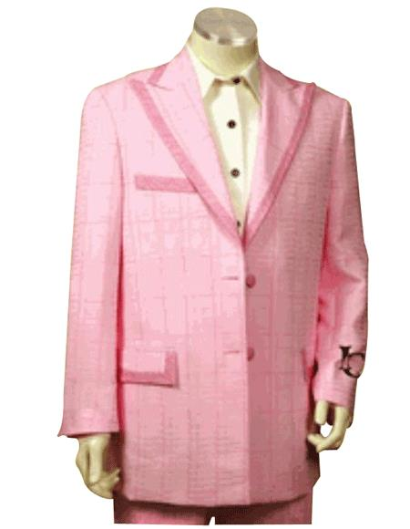 Men's Fashion Hot Pink Suit or Fashion Tuxedo For Men 2 Buttons With Peak Lapel Trimmed