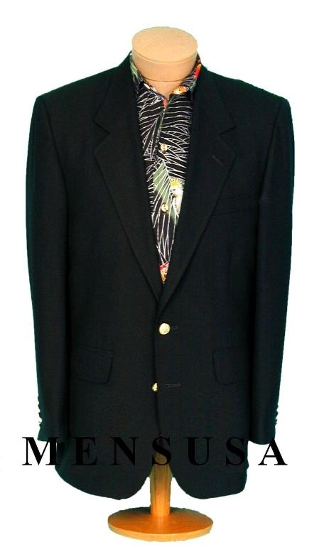 SKU# BR22 Exclusive MENS 2 Button Texture Black BLAZER SUIT or JACKET