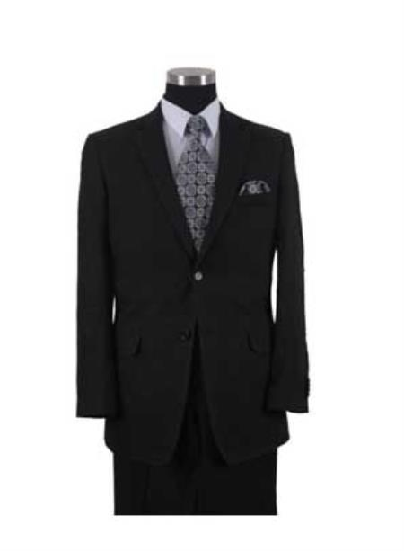 SKU#WTX_Linen-2BV Linen~Cotton Black 2 Button Elbow Patch sleeve Mens Summer Suit or Blazer or Sportcoat