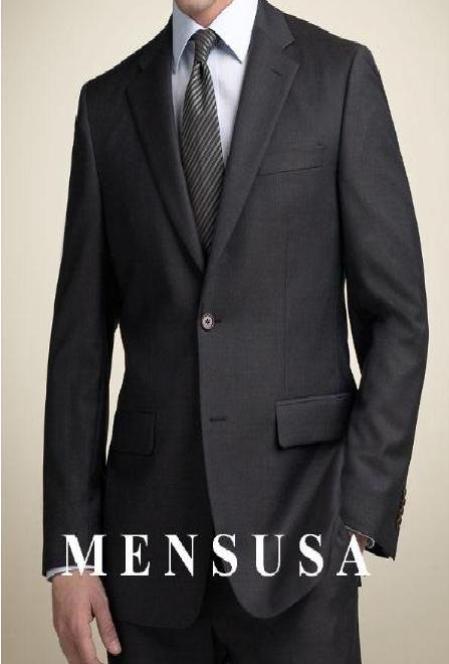 Black 2 Buttons premier quality italian fabric Mens Suits Super 100s