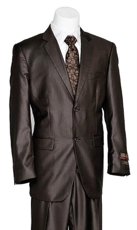 Mens 2 Button Brown