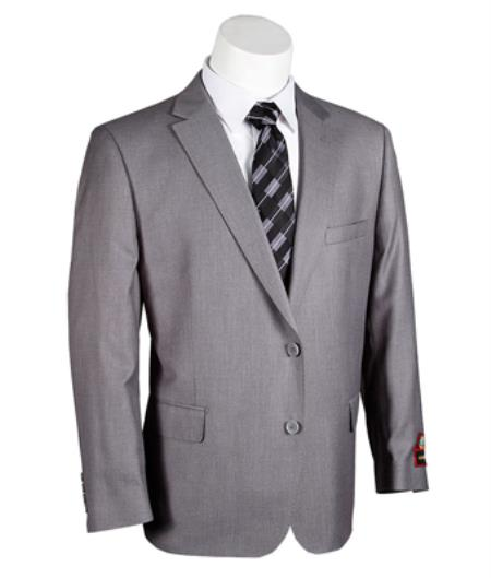 Mens Giorgio Fiorelli 2 Button Medium Grey Executive Cut - Portly Suit