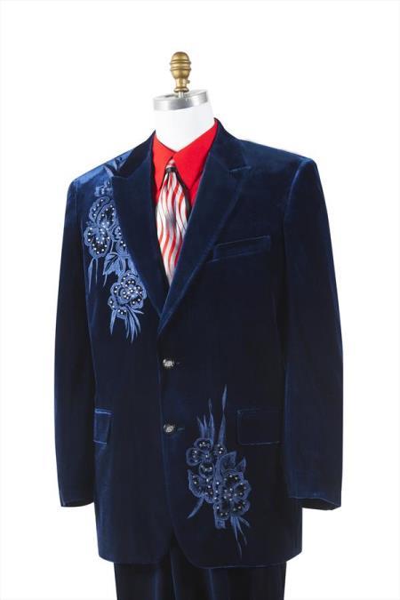 Men's Trimmed Pleated Pants Vested 3 Piece Suits Dark Navy Unique 2 Button Fashion Tuxedo For Men