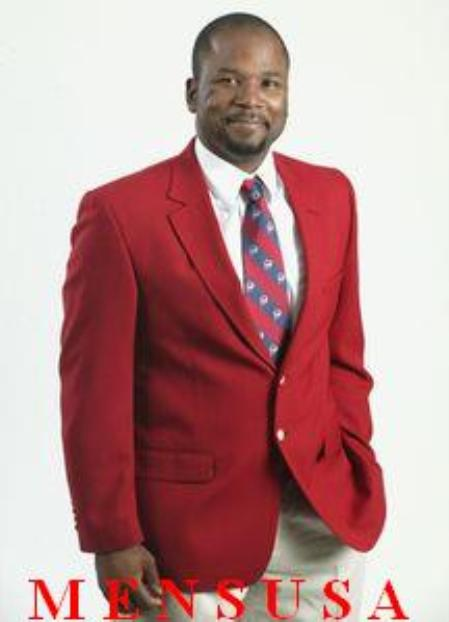 SKU#MFE434 Mens RED 2 Button sport coats/blazers Excellent Quality (Men + Women)