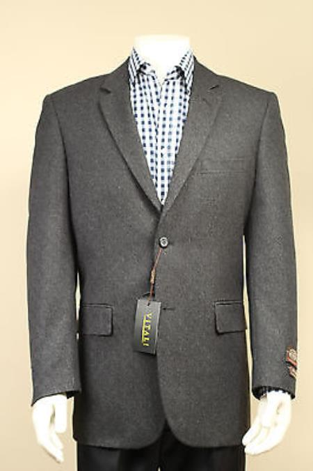 Mens 2 Button Sport Coat / Sport Jacket / Blazer with Side Vents Grey, Taupe