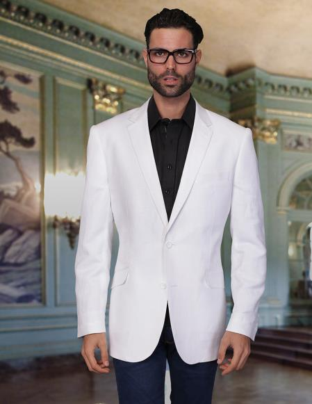 Mens White Jacket Blazer