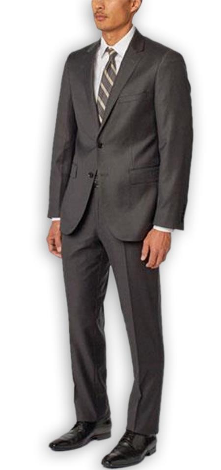 Alberto Nardoni Authentic Brand Men's Charcoal   100% Wool Double Vent Two Piece Suit