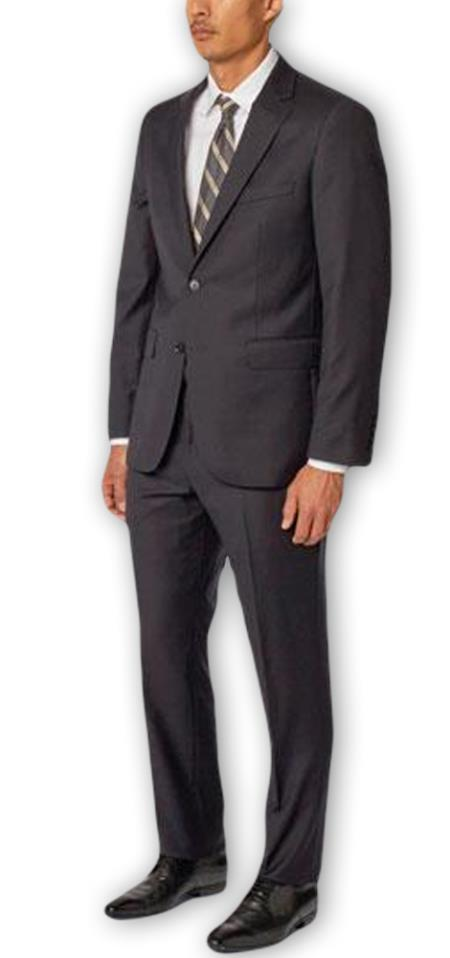 Single Breasted Two Piece Dark Navy Suit