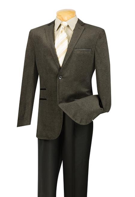 Velveteen Trimmed Sport Coat
