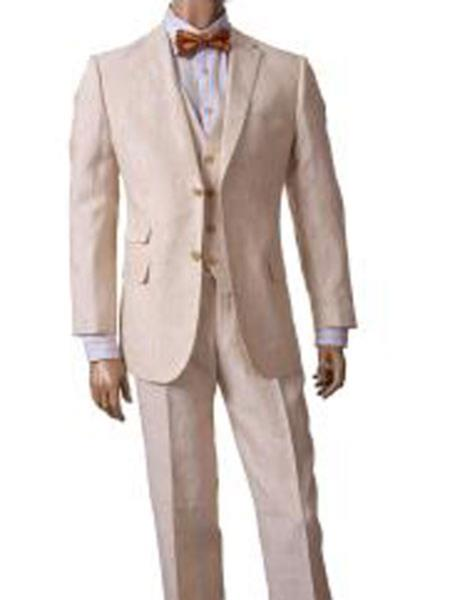 Pocket Summer Linen Suit
