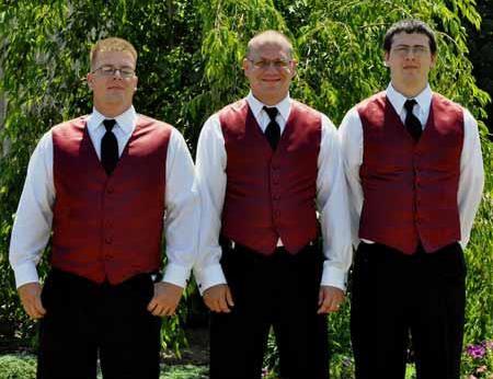 Groomsmen Burgundy ~ Wine ~ Maroon Color Vest + Pants Slacks + Any Color Shirt & Tie Set (no Jacket)