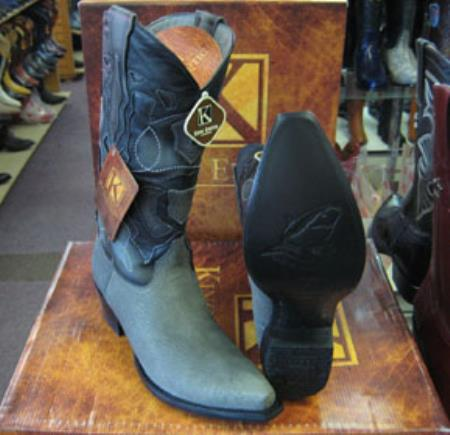 Mens Genunie Shark King Exotic Cowboy Style By los altos botas For Sale Snip Toe Western Cowboy Gray Dress Cowboy Boot Cheap Priced For Sale Online