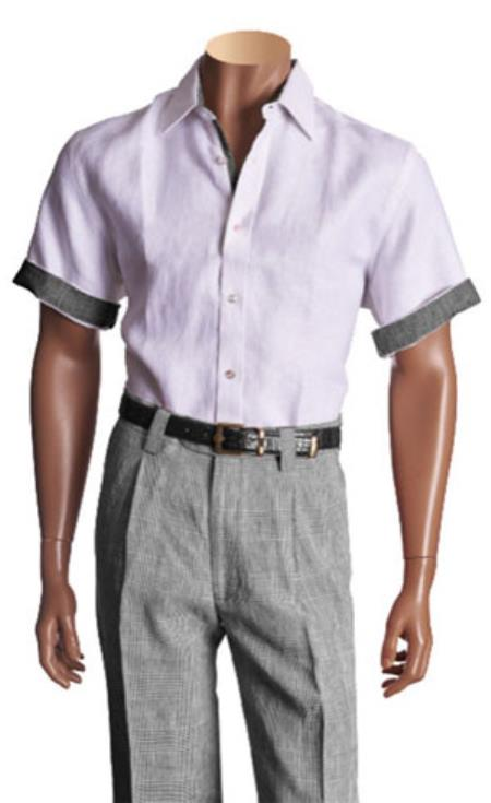 Short Sleeve Linen Solid