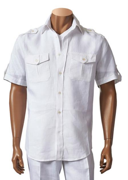 White Casual Walking Suit