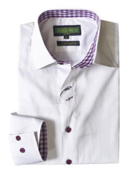 Mens White Cotton Dress