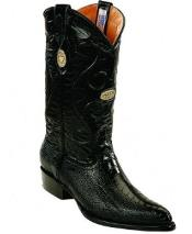 Buy RM1245 Mens White Diamonds Handcrafted Genuine Ostrich Leg Leather Insole Black Boots