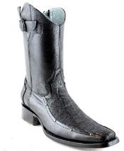 Mens White Diamonds Short Elephant Skin Traditional Leather Sole Fashion Boots Black RM1264