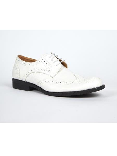 Mens White Dress Oxford Shoes Perfect for Men