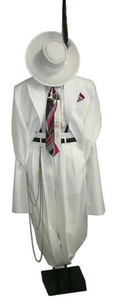 SKU# HK08 Mens White Fashion Zoot Suit   $139