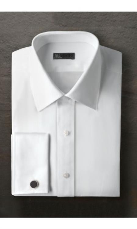 Marshall White Laydown Tuxedo Shirt Ike Evening by Ike Behar Tuxedo Authentic Brand