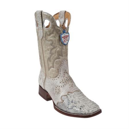 Wild West - Boots Ostrich Leg Wild Ranch Toe - White