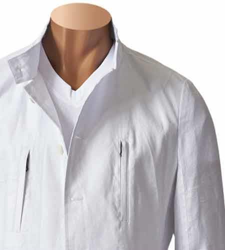 Mens 100% Linen White