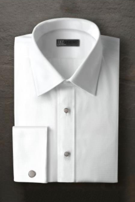 Logan White Laydown Tuxedo Shirt Ike Evening by Ike Behar Tuxedo Authentic Brand