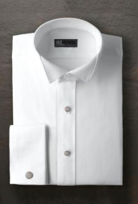 Mitchell White Wingtip Tuxedo Shirt Ike Evening by Ike Behar Tuxedo Authentic Brand
