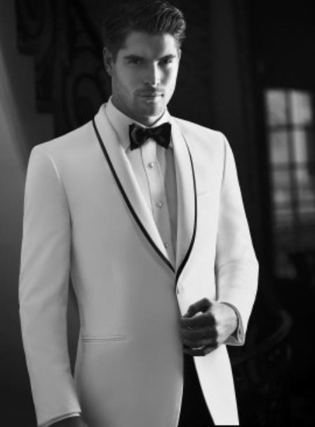 Waverly White Tuxedo Jacket Ike Evening by Ike Behar Tuxedo Authentic Brand