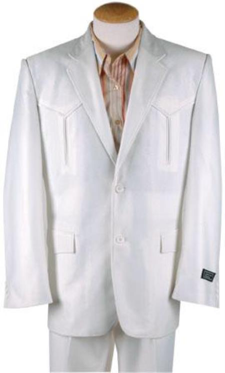 Polyester Western Suit White