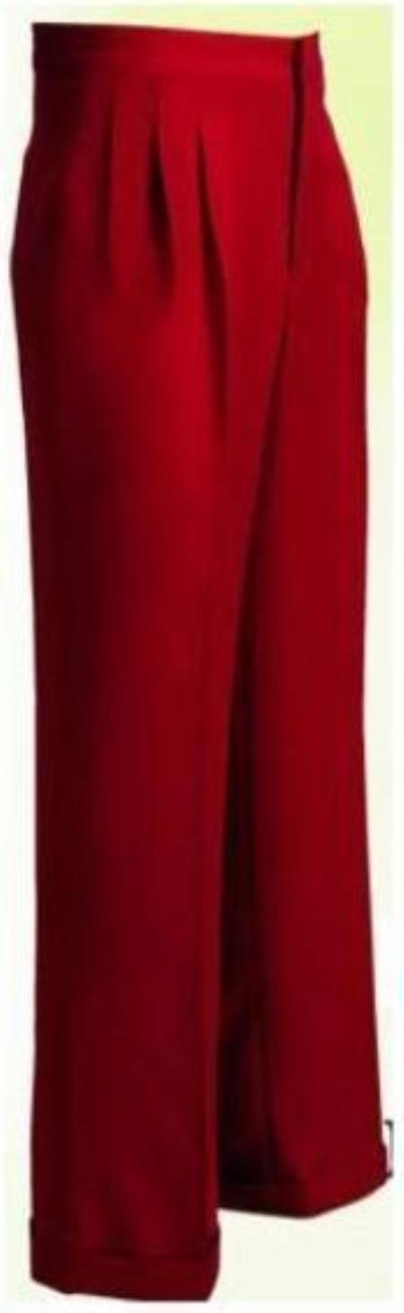 "SKU#WL10 long rise big leg slacks Mens Wide Leg Triple Pleat Pant Copper~Rust~cognac 22- Inch\"" around the bottom"