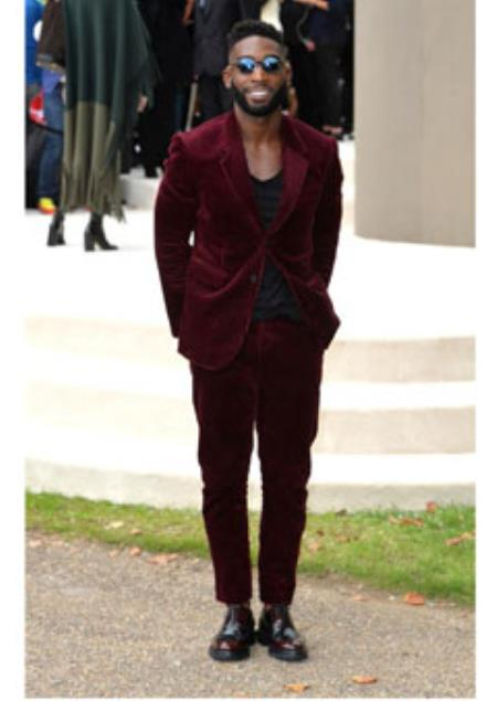 Men's Burgundy ~ Wine ~ Maroon Suit  Corduroy Suit 2 Button Style + Jacket Sport coat + Pants Burgundy Suit